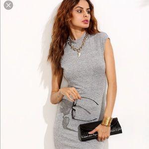 SHEIN grey dress, brand new L, grey